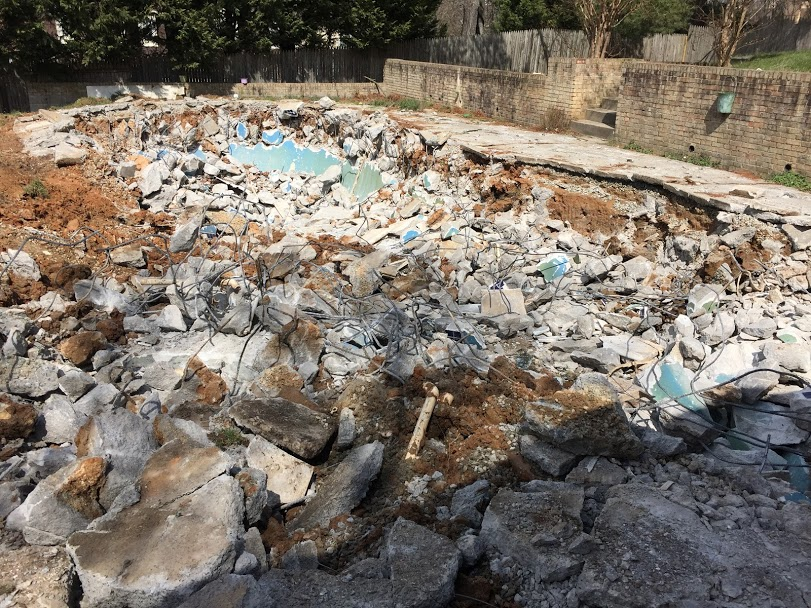 pool demolition in md
