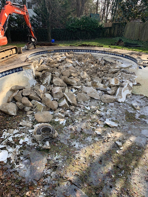 virginia pool removal
